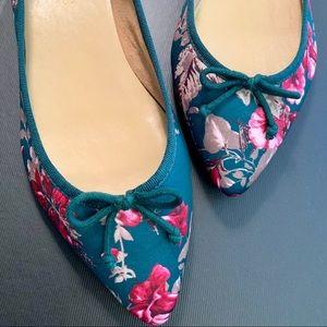 Floral green multi Ballet Flats Talbots